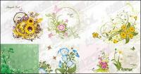 7, various flowers vector material