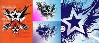 Vector material elements of the theme stars-1
