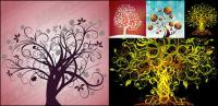 4, Vector theme of the tree material