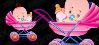 Cute baby vector material-3