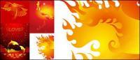 Vector golden color illustrations