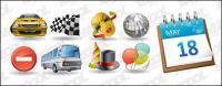 Automotive entertainment calendar icon vector material