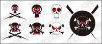 Vector lovely skull material