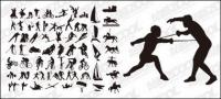 All kinds of sports action vector silhouette material-2
