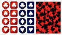 poker logo vector material