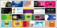 European and American style of business card