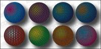 Three-dimensional spherical design material