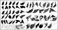 Number of exquisite wings vector material