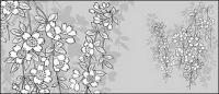 Vector line drawing of flowers-43(Sakura)