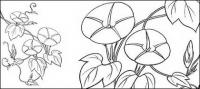 Line drawing of flowers -9