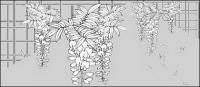 Line drawing of flowers -13