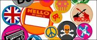 Vector material elements of the trend badge