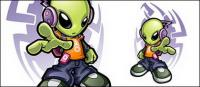 Cool aliens Vector