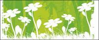Vector small flowers background material
