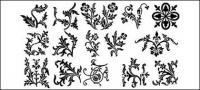 Sections of lace pattern vector material