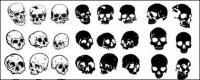 Go Media produced vector material - Multi-angle skull