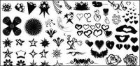 Go Media produced vector material - heart-shaped and star series