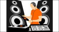 DJ music equipment vector material