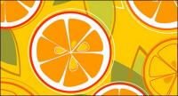 Oranges combination of vector