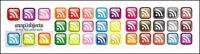 rss subscribers crystal texture of small icon (the button)