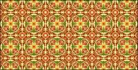 Classic tile pattern vector-6