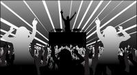 DJ and dancing figures