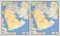 Vector map of the world exquisite material - the Arabian Peninsula map