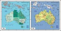 Vector map of the world exquisite material - Australia map