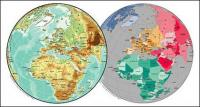 Vector map of the world exquisite material - the European sphere map
