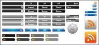 Web Design button vector case material