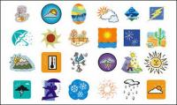 Weather cartoon series vector material