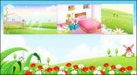 Spring, summer, room, the network vector scenery