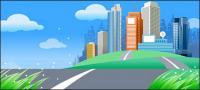 Beautiful city scenery vector -4