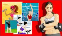 Vector material package sports figures