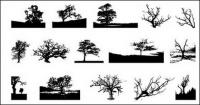 Go Media produced vector material - trees in Pictures
