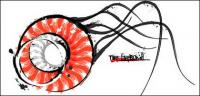 Marine life - jellyfish vector material