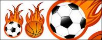 Football and basketball flame