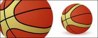 A basketball vector material