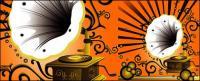 Gramophone patterns and nostalgia