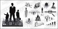 A variety of business figures in Pictures vector material