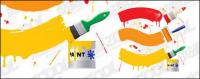 Vector paint brush material -2