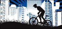 Urban cycling material