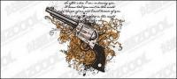 Vector pistol and tread material