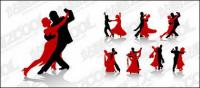 Vector material dance figures in Pictures