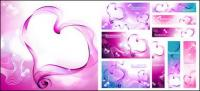 Heart-shaped smoke composed of vector material