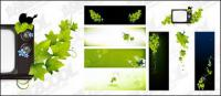 Green butterfly TV vector material