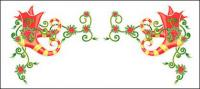Christmas exquisite lace Vector material-12