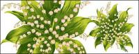 Hand-painted flowers layered material psd-9
