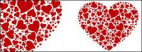 Composed of a number of large heart-shaped heart-shaped Vector