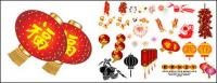 Vector material elements of the Spring Festival